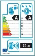 Etykieta energetyczna opony zawiera jej 3 cechy.